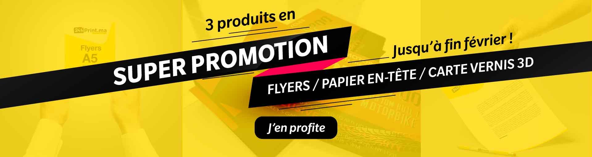 Promotion 3 produits