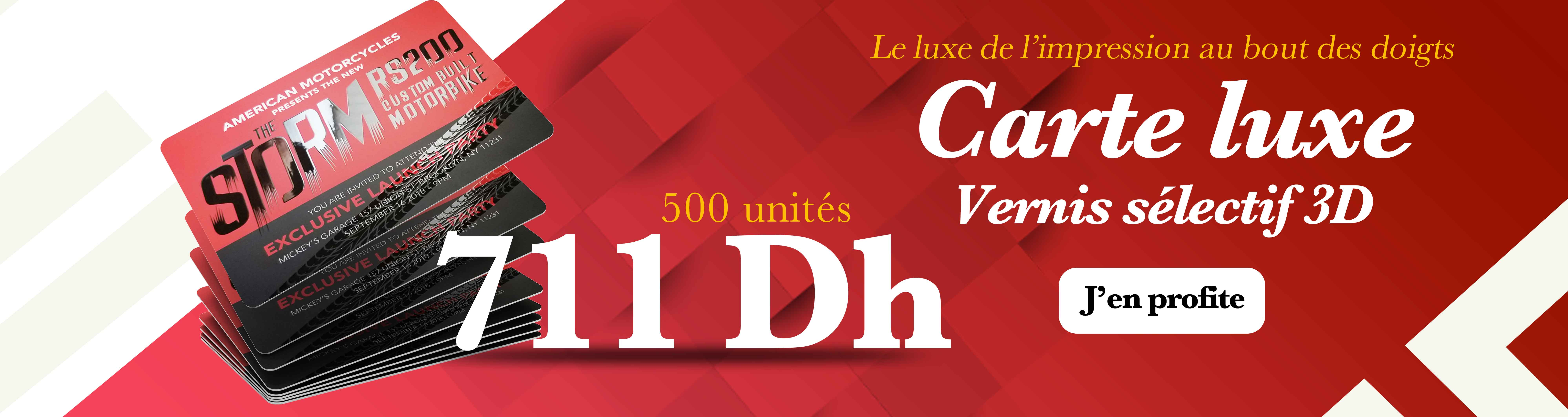 Promotions carte luxe