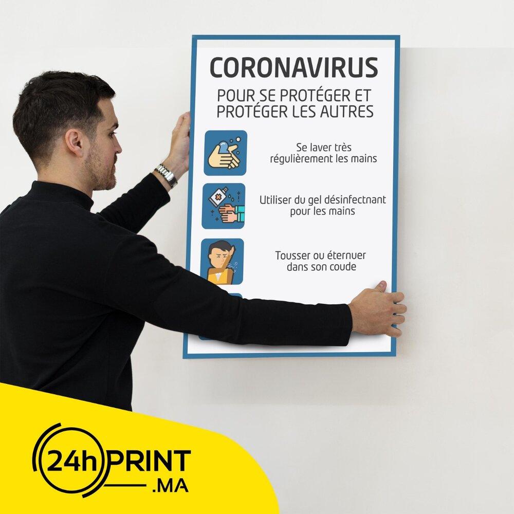Affiche Papier Plastifié > Covid-19