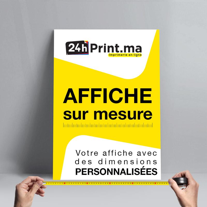 Affiche papier sur mesure