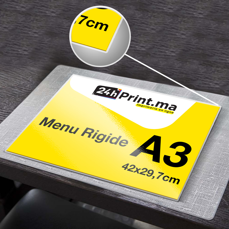 Menu Rigide A3