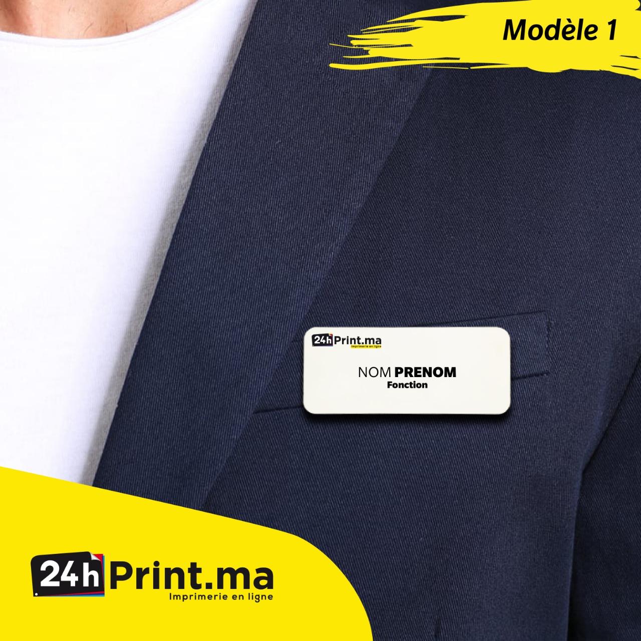 Badge Aimanté > Modèle 1