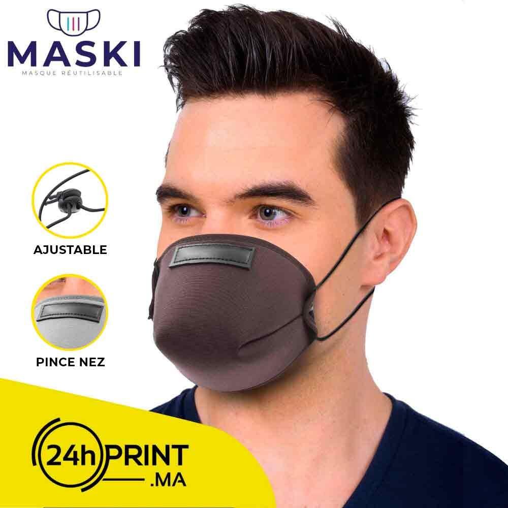 Masque Réutilisable Marron