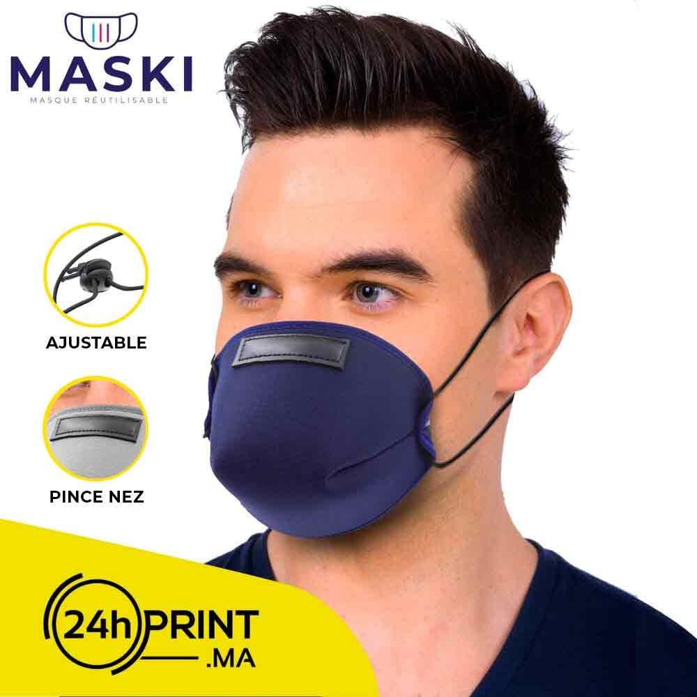 Masque Réutilisable Bleu Marine