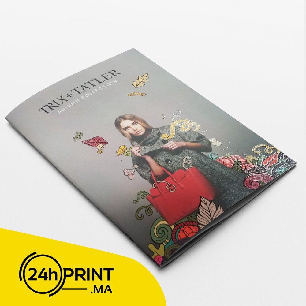 Brochure A4 Luxe > Vernis sélectif 3D