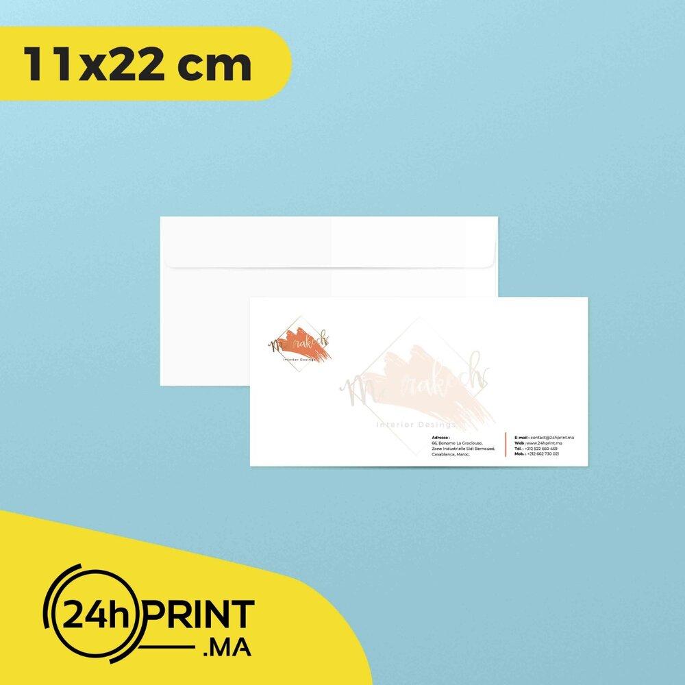 Enveloppe US 11*22 cm