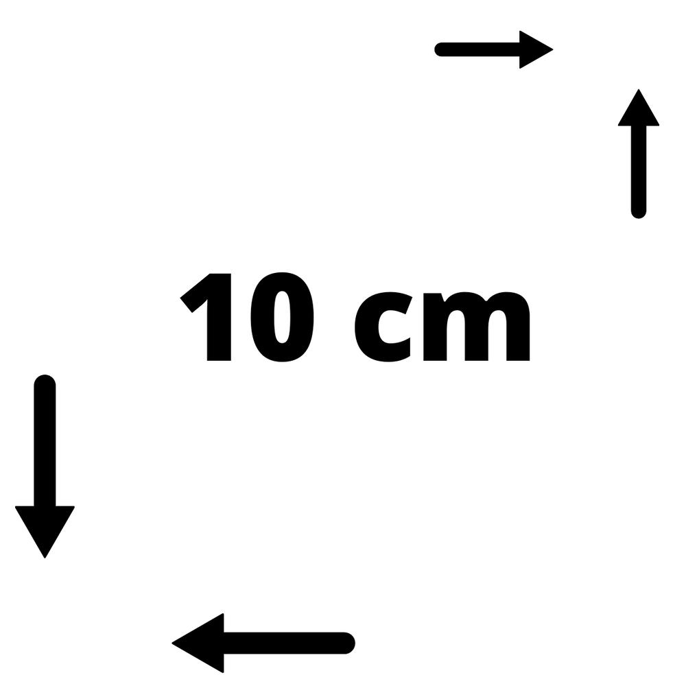 10*10 cm