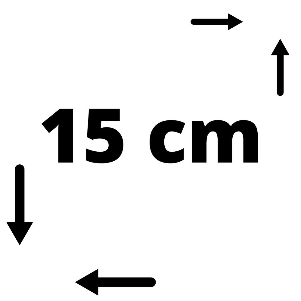15*15 cm