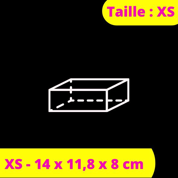 XS - 14 x 11,8 x 8 cm