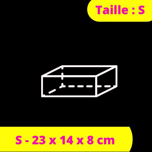 S - 23 x 14 x 8 cm
