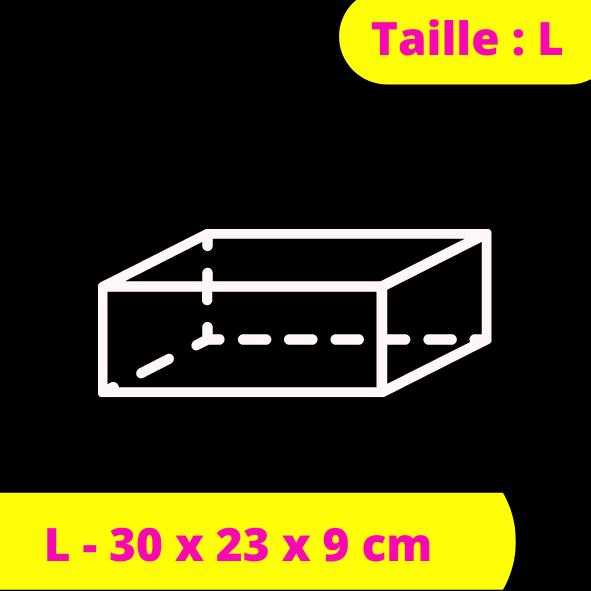 L - 30 x 23 x 9 cm