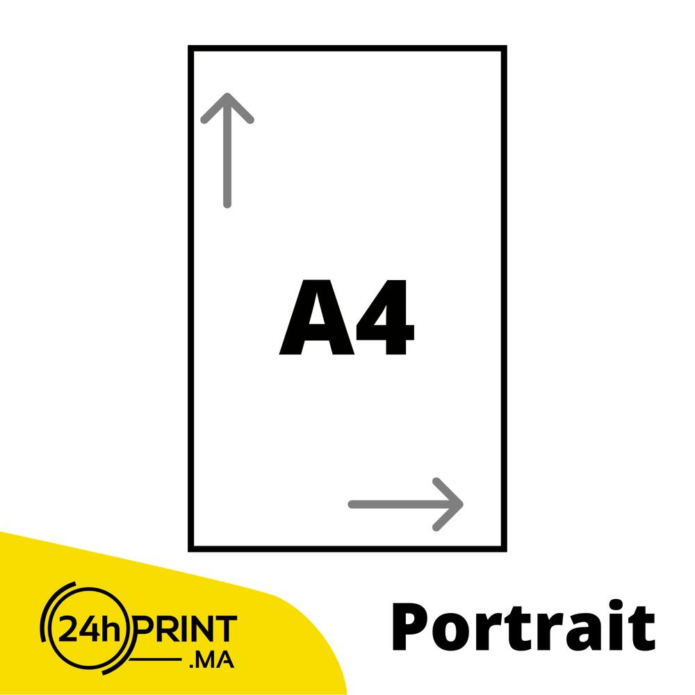 Portrait > A4 fermé - A3 ouvert
