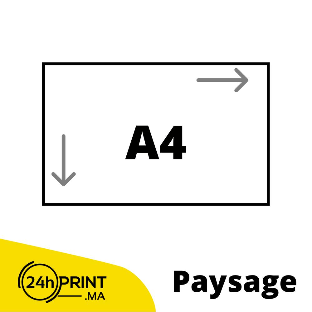 Paysage > A4 fermé - 21*59,4 cm ouvert