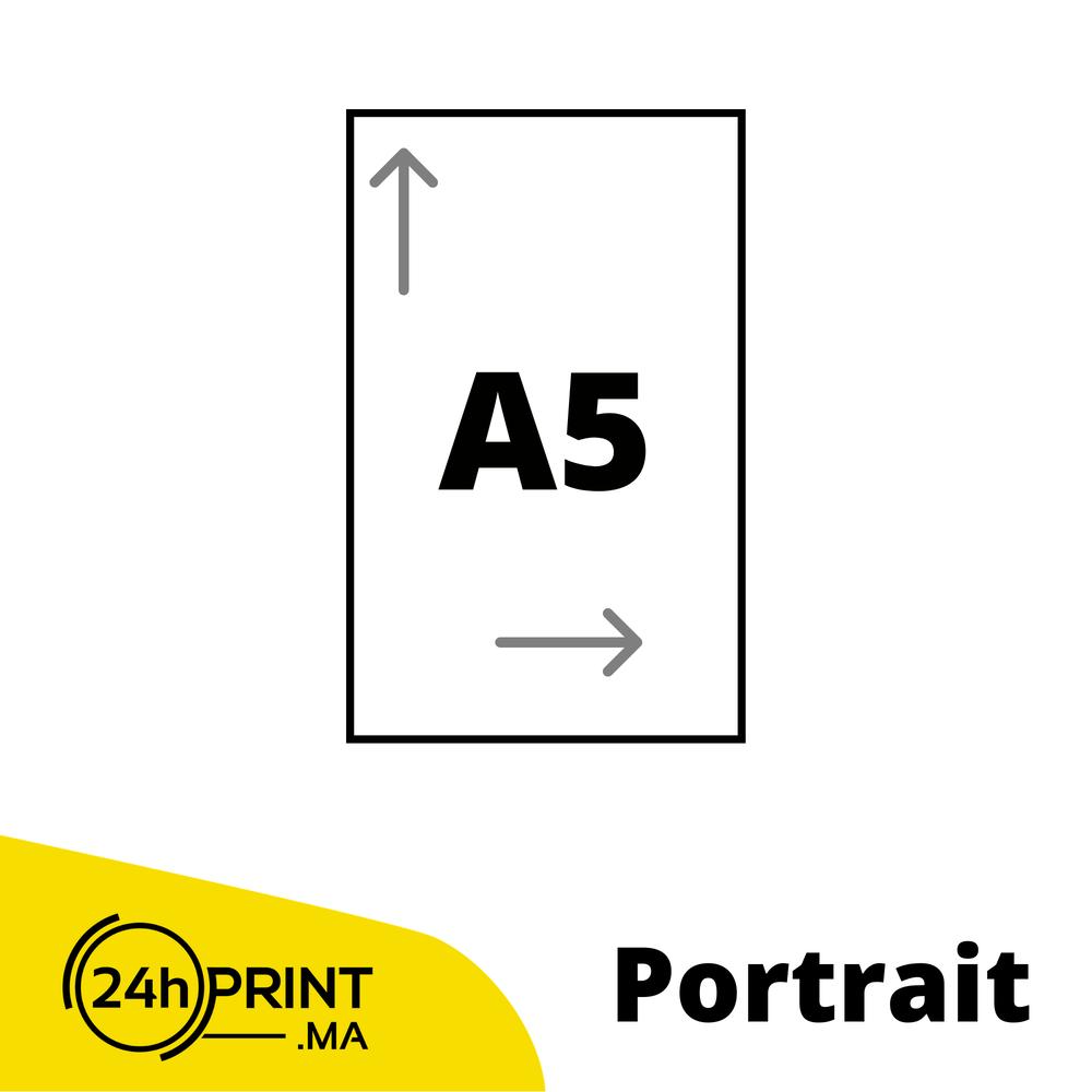 Portrait > A5 fermé